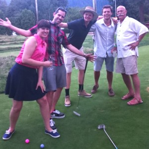 Governators Lisa and Nathan Cherrington (pictured here with Will Vinton and members of his team The Vintones) defeated all comers at the Classic Croquet to win the 1st Place in the Croquet tournament.