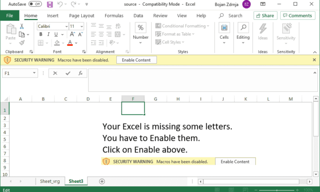 Dynamically analyzing a heavily obfuscated Excel 4 macro malicious file, (Thu, Jan 14th)
